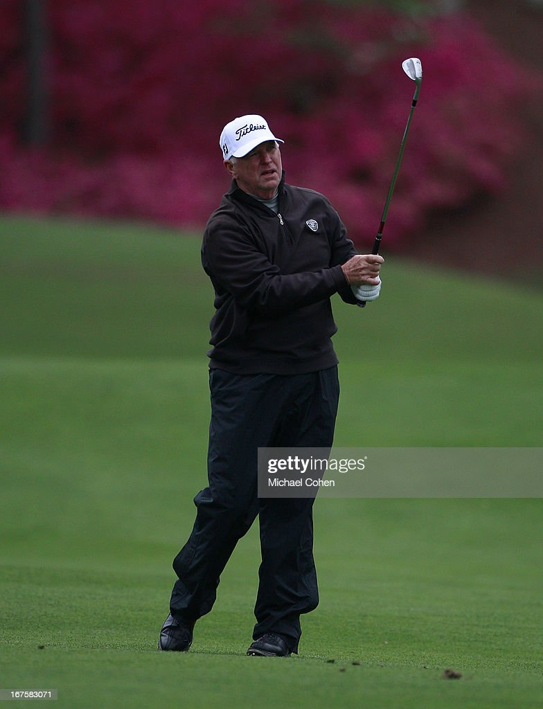 Tom Jenkins hits a shot from the fairway during the first round of the Greater Gwinnett Championship held at TPC Sugarloaf on April 19 2013 in Duluth...