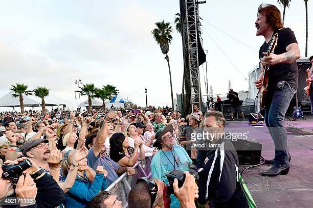 Tom Johnston of the Doobie Brothers performs at the 17th Annual Doheny Blues Festival at Doheny State Beach on May 18 2014 in Dana Point California