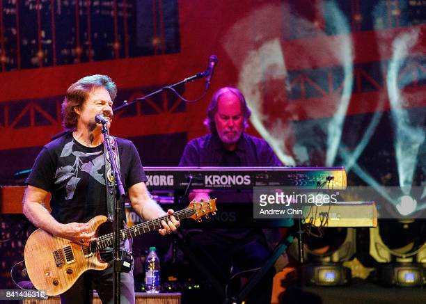 Tom Johnston of The Doobie Brothers performs on stage during Summer Night Concert Series at PNE Amphitheatre on August 31 2017 in Vancouver Canada
