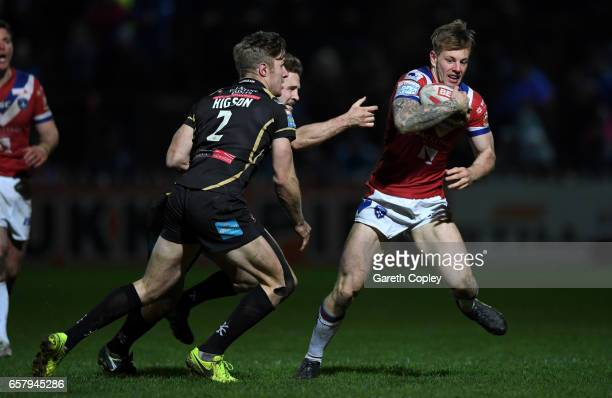 Tom Johnstone of Wakefield during the Betfred Super League match between Wakefield Trinity and Leigh Centurions at Belle Vue on March 23 2017 in...
