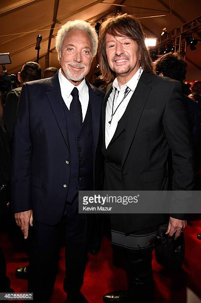 Tom Jones and Richie Sambora attend the 25th anniversary MusiCares 2015 Person Of The Year Gala honoring Bob Dylan at the Los Angeles Convention...