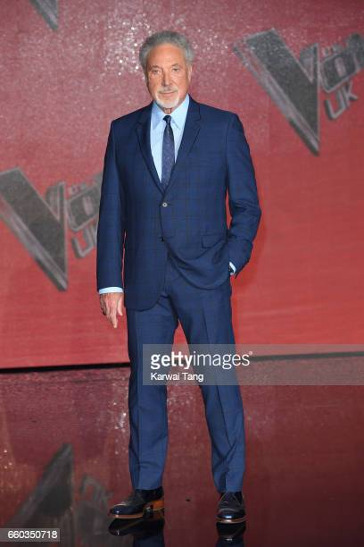 Tom Jones attends a photocall for the final of The Voice UK at LH2 on March 29 2017 in London United Kingdom