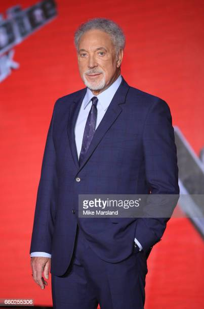 Tom Jones attends the final of The Voice UK on March 29 2017 in London United Kingdom