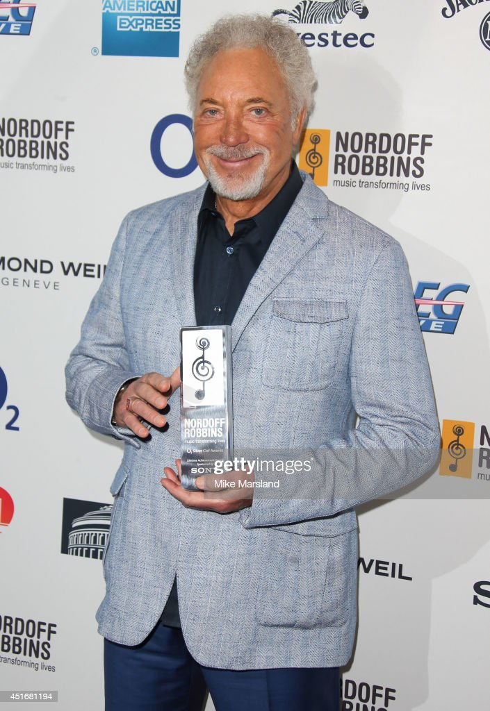 <a gi-track='captionPersonalityLinkClicked' href=/galleries/search?phrase=Tom+Jones+-+Singer&family=editorial&specificpeople=11484419 ng-click='$event.stopPropagation()'>Tom Jones</a> attends the Nordoff Robbins 02 Silver Clef awards at London Hilton on July 4, 2014 in London, England.