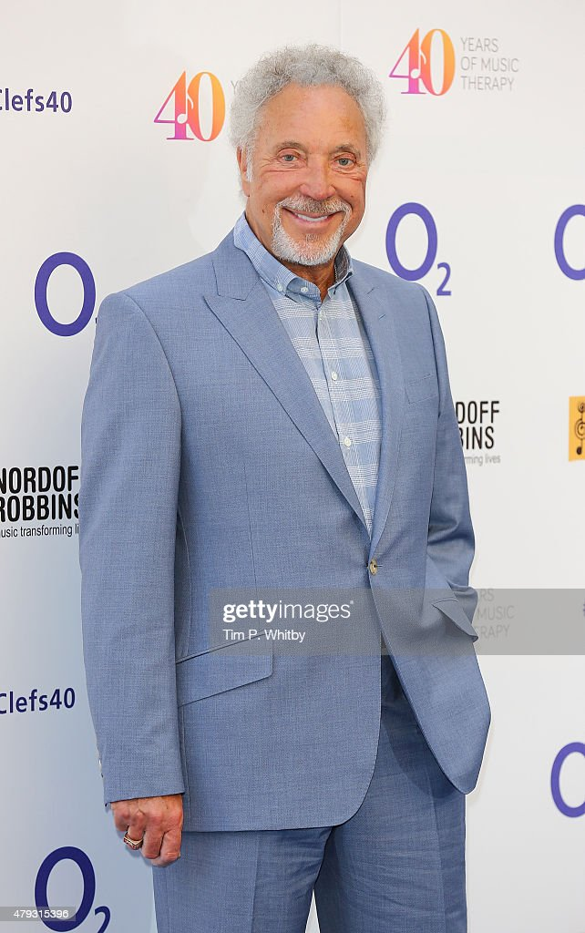 Tom Jones attends the Nordoff Robbins 02 Silver clef Awards at The Grosvenor House Hotel on July 3, 2015 in London, England.