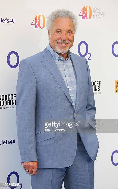 Tom Jones attends the Nordoff Robbins 02 Silver clef Awards at The Grosvenor House Hotel on July 3 2015 in London England