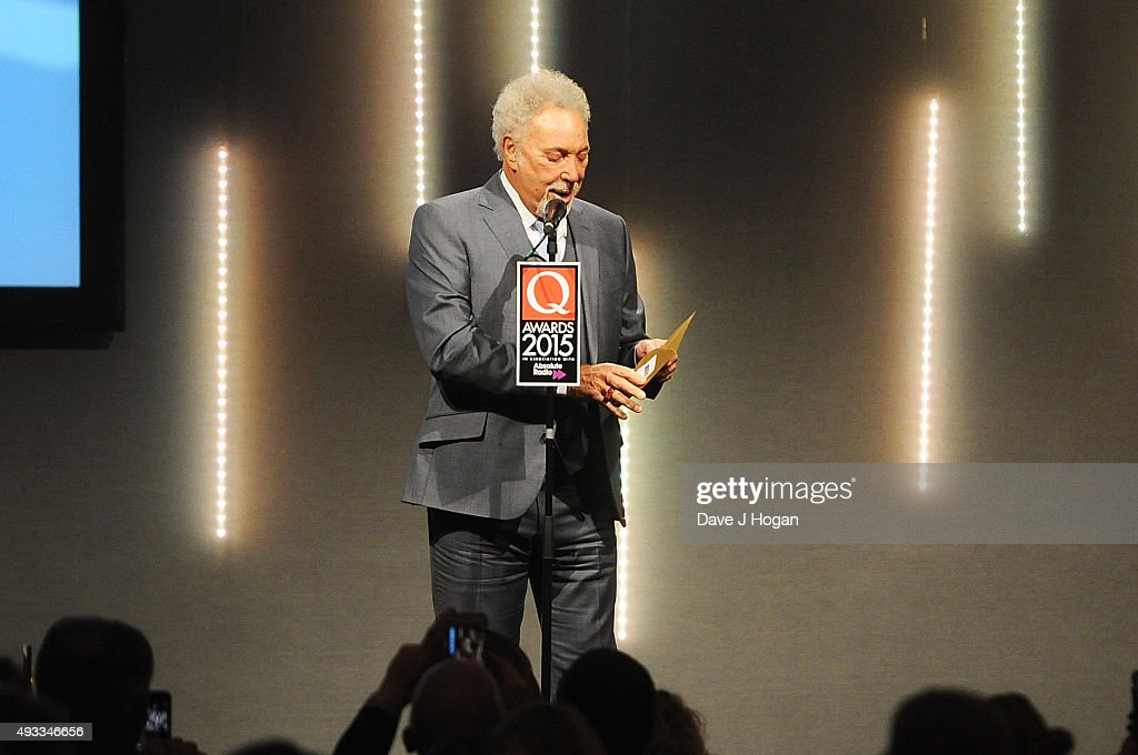 Tom Jones attends the Q Awards at The Grosvenor House Hotel on October 19 2015 in London England