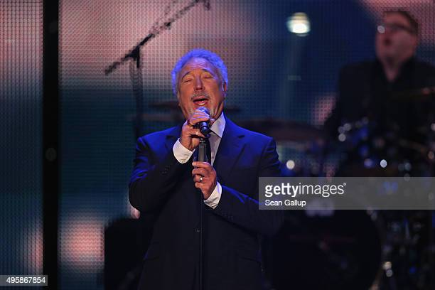 Tom Jones is seen on stage at the GQ Men of the year Award 2015 show at Komische Oper on November 5 2015 in Berlin Germany