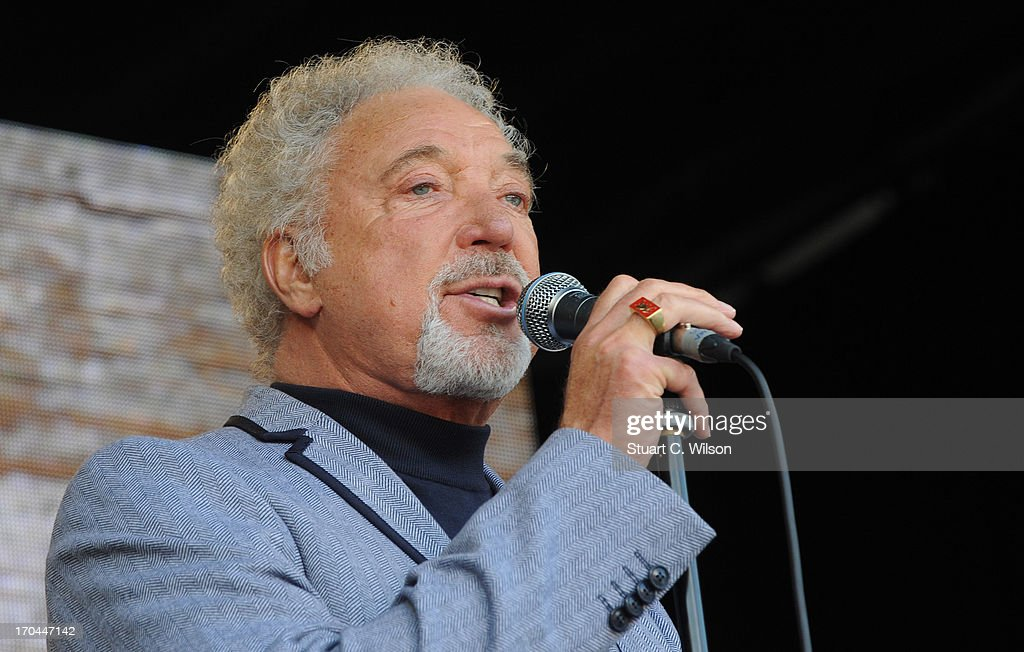Tom Jones performing at agit8 at Tate Modern, ONE's campaign ahead of the G8 at Tate Modern on June 13, 2013 in London, England.
