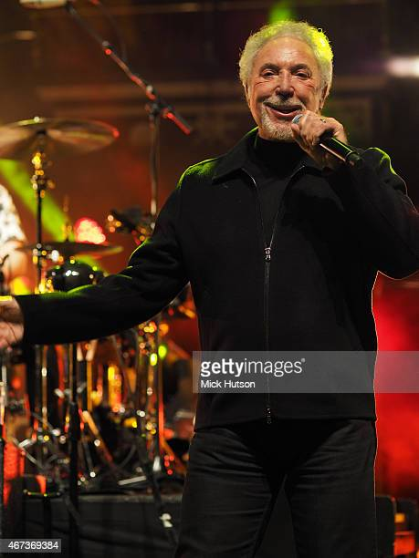 Tom Jones performs during Teenage Cancer Trust 15th Anniversary Year Concert at Royal Albert Hall on March 23 2015 in London England