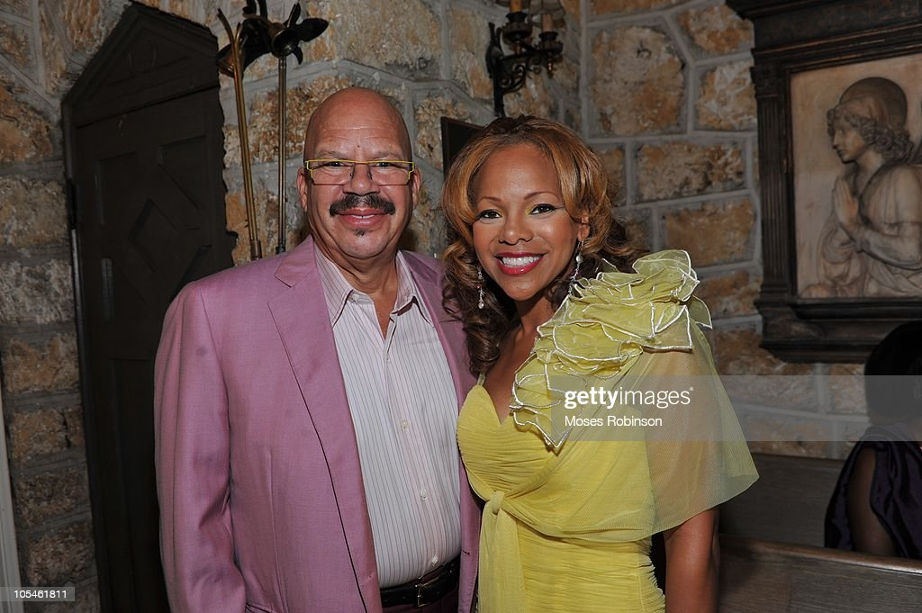 Tom Joyner and Donna Joyner attend Alem Gola and Oscar Joyner Wedding Ceremony on October 9, 2010 in Miami, Florida.