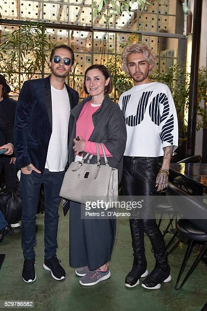 Tom Kaulitz Giuliana Leonardi BILLY at the photo art exhibition and book launch of BILLY at 10 Corso Como on May 9 2016 in Milan Italy