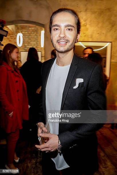 Tom Kaulitz guitarist of the band Tokio Hotel and brother of Bill Kaulitz attend the photo art exhibition and book launch of BILLY at Seven Star...