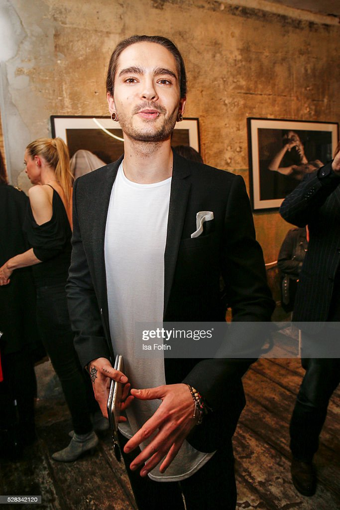 Tom Kaulitz, guitarist of the band Tokio Hotel and brother of Bill Kaulitz during the photo art exhibition and book launch of BILLY at Seven Star Gallery on May 4, 2016 in Berlin, Germany.