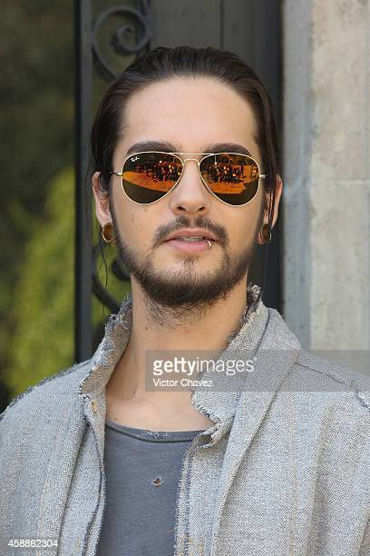 Tom Kaulitz of Tokio Hotel attends a photocall and press conference at Universal Music on November 12 2014 in Mexico City Mexico