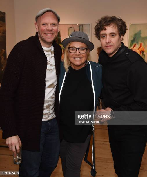 Tom Kerridge Beth CullenKerridge and Ian Matthews attend a private view of exhibition 'Morphosis' during the official launch of the West Contemporary...