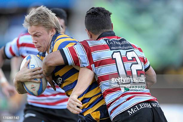 Tom Kingston in action during the round 16 Shute Shield match between Sydney Uni and Southern Districts at North Sydney Oval on August 3 2013 in...