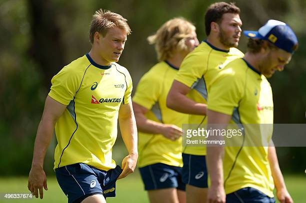 Tom Kingston looks on during an Australian men's rugby sevens training session at Sydney Academy of Sport on November 9 2015 in Sydney Australia