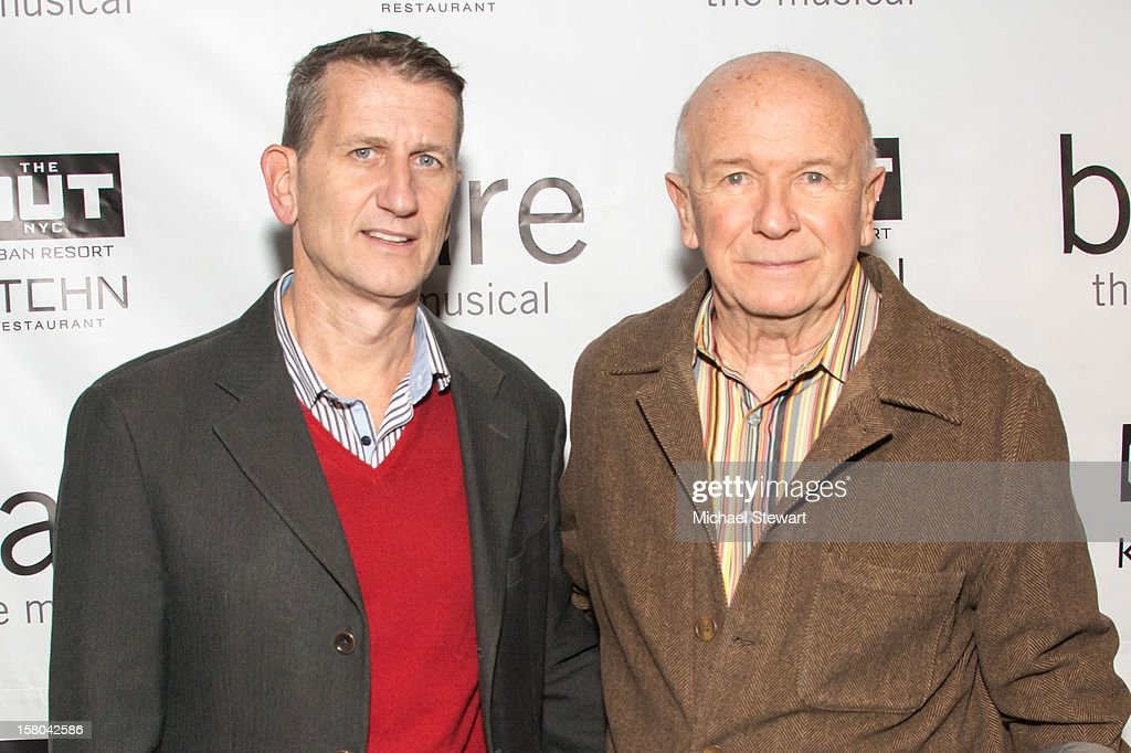 Tom Kirdahy (L) and playwright Terrence McNally attend 'BARE The Musical' Opening Night at New World Stages on December 9, 2012 in New York City.