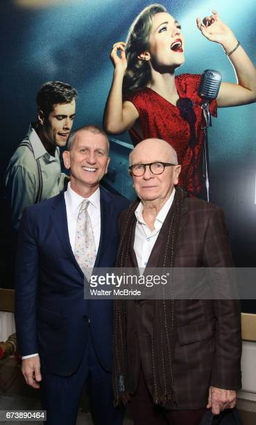 Tom Kirdahy and Terrence McNally attend the Broadway Opening Night performance of 'Bandstand' at the Bernard B Jacobs Theatre on 4/26/2017 in New...