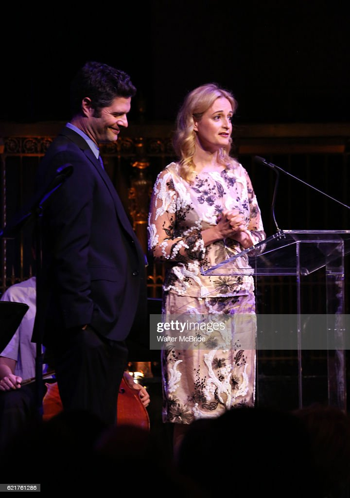 Tom Kitt and Nell Benjamin during the Dramatists Guild Fund Gala 'Great Writers Thank Their Lucky Stars : The Presidential Edition' presentation at Gotham Hall on November 7, 2016 in New York City.