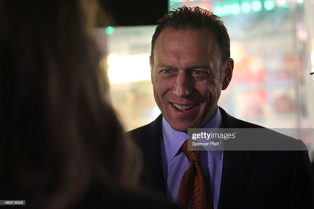 Tom Klein, CEO and president of Sabre, is viewed moments after Sabre Corp. made its stock market debut on the Nasdaq exchange on April 17, 2014 in New York City. Shares of Sabre Corp, which owns online travel company Travelocity, rose over 3 percent in their stock market debut .