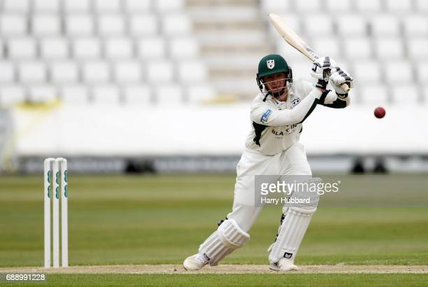 Tom KohlerCadmore of Worcestershire bats during the Specsavers County Championship division two match between Northamptonshire and Worcestershire at...