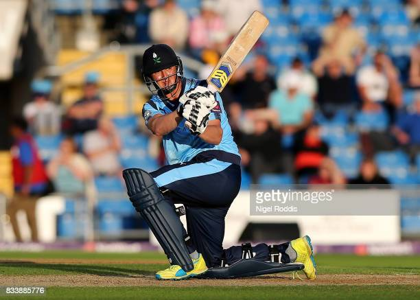 Tom KohlerCadmore of Yorkshire Vikings during the NatWest T20 Blast at Headingley on August 17 2017 in Leeds England