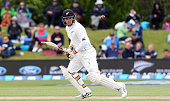 Tom Latham of New Zealand bats during day three of the First Test match between New Zealand and Sri Lanka at University Oval on December 12 2015 in...