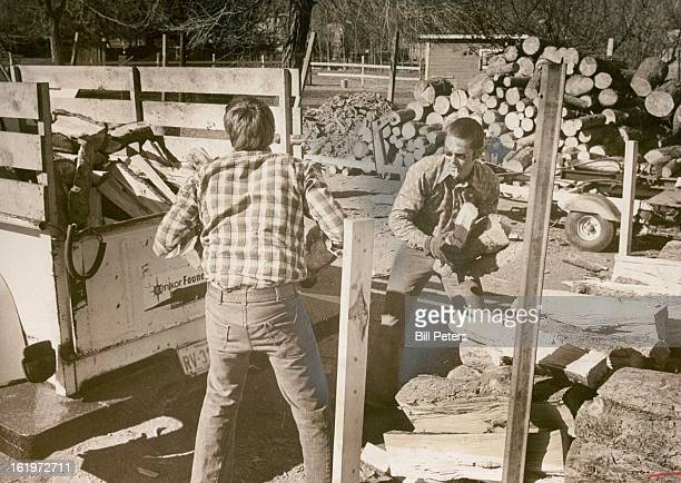 FEB 8 1977 MAR 7 1977 Tom Lathrop left and Reggie Peck Load Wood on Truck to Fill an Order The Cenikor residents are working at the foundation's...