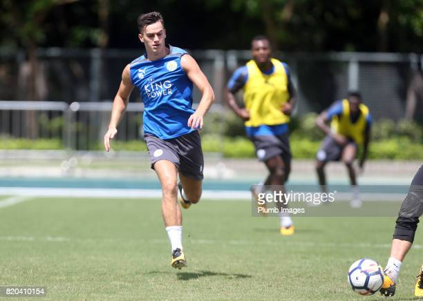 Tom Lawrence of Leicester City during the training session in Hong Kong ahead of the Premier League Asia Trophy final against Liverpool on July 21...