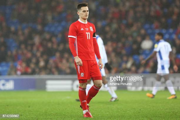Tom Lawrence of Wales during the International Friendly match between Wales and Panama at The Cardiff City Stadium on November 14 2017 in Cardiff...