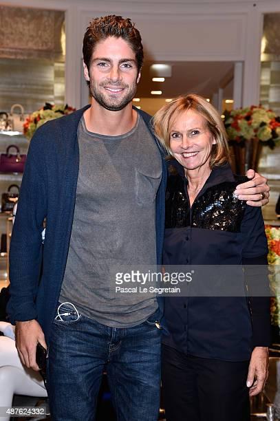 Tom Leeb and Frederique Fetiveau attend the 'Vendanges Montaigne 2015' at Dior at Avenue Montaigne on September 10 2015 in Paris France