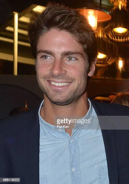 Tom Leeb attends the 'Diner Sensoriel' hosted by Maille at Jardin du Pont Neuf on September 15 2015 in Paris France