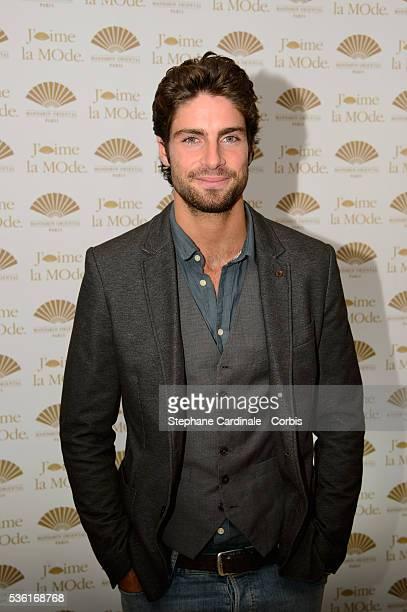 Tom Leeb attends the J'aime La Mode Mandarin Oriental Photocall at Hotel Mandarin Oriental on September 28 2015 in Paris France
