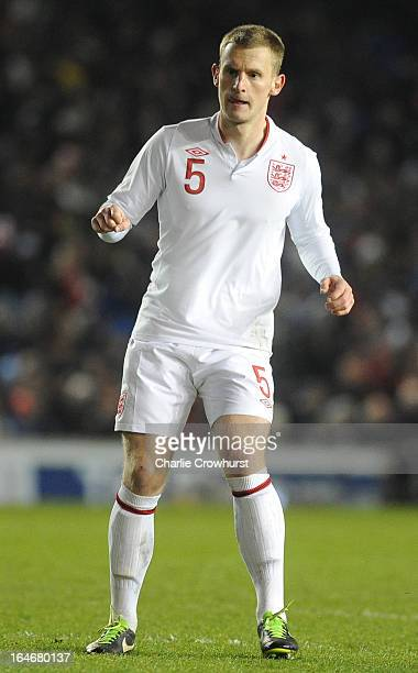 Tom Lees of England during the International match between England U21 and Austria U21 at The Amex Stadium on March 25 2013 in Brighton England