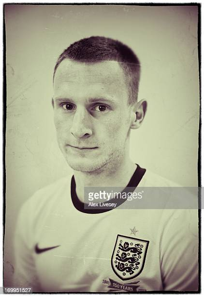 Tom Lees of England Under21s poses for a portrait at St Georges Park on March 19 2013 in BurtonuponTrent England