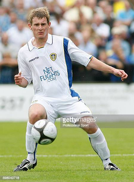 Tom Lees of Leeds United in action during the Pre Season Friendly Match between York City and Leeds United at Kitkat Crescent in York on 12th July...