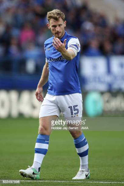 Tom Lees of Sheffield Wednesday during the Sky Bet Championship match between Sheffield Wednesday and Sunderland at Hillsborough on August 16 2017 in...