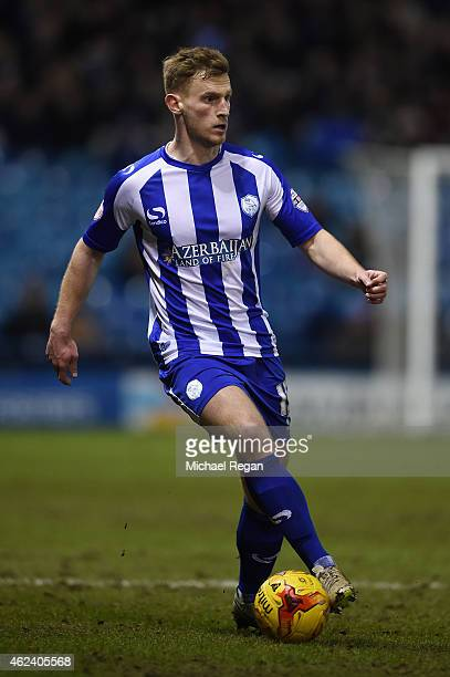 Tom Lees of Sheffield Wednesday in action during the Sky Bet Championship match between Sheffield Wednesday and Birmingham City at Hillsborough...