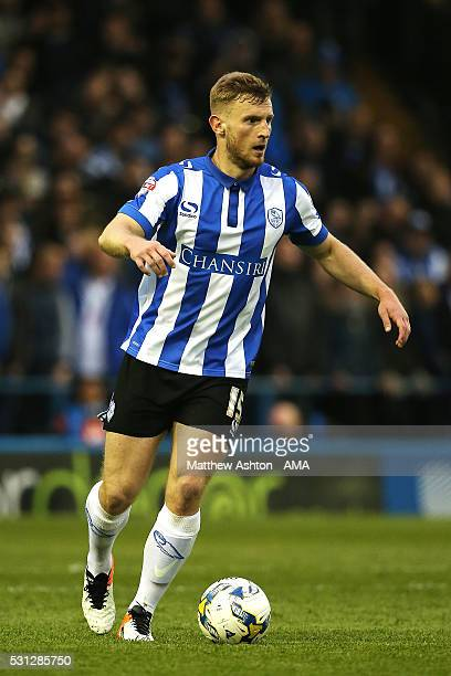 Tom Lees of Sheffield Wednesday in action during the Sky Bet Championship Play Off First Leg match between Sheffield Wednesday and Brighton Hove...