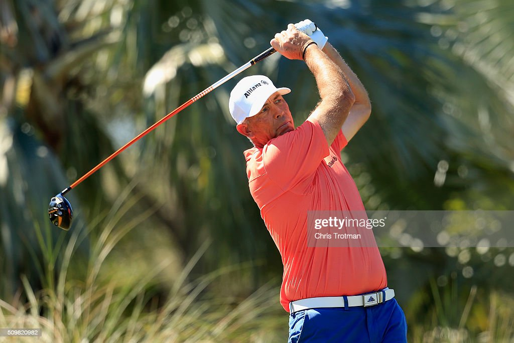 <a gi-track='captionPersonalityLinkClicked' href=/galleries/search?phrase=Tom+Lehman&family=editorial&specificpeople=184539 ng-click='$event.stopPropagation()'>Tom Lehman</a> hits a tee shot on the 9th hole during the first round of the 2016 Chubb Classic at the TwinEagles Club on February 12, 2016 in Naples, Florida.