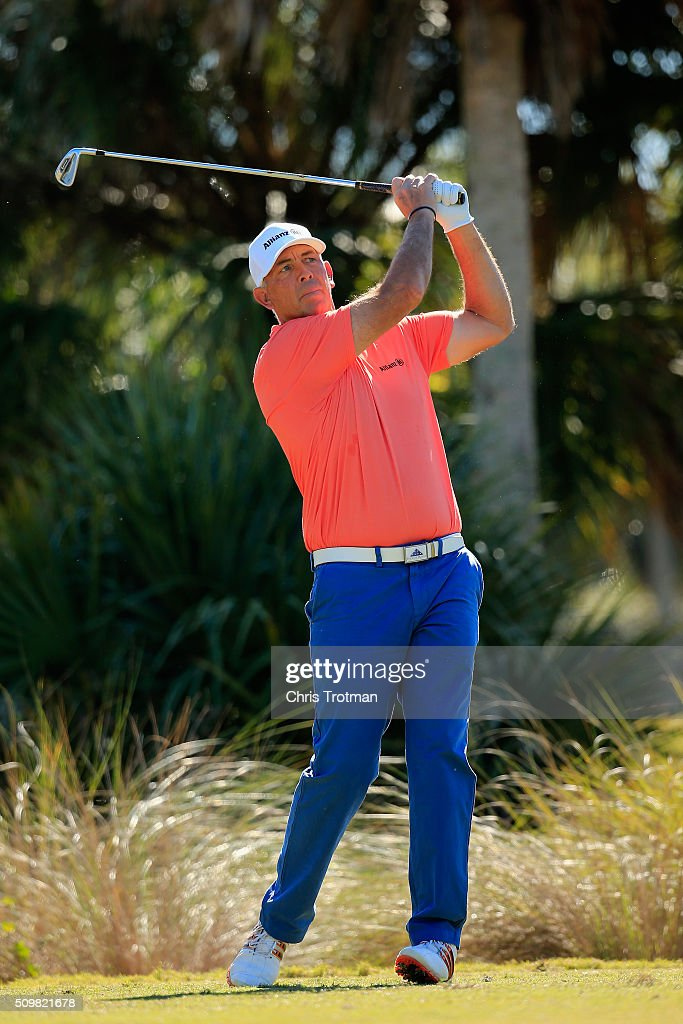 <a gi-track='captionPersonalityLinkClicked' href=/galleries/search?phrase=Tom+Lehman&family=editorial&specificpeople=184539 ng-click='$event.stopPropagation()'>Tom Lehman</a> hits a tee shot on the second hole during the first round of the 2016 Chubb Classic at the TwinEagles Club on February 12, 2016 in Naples, Florida.