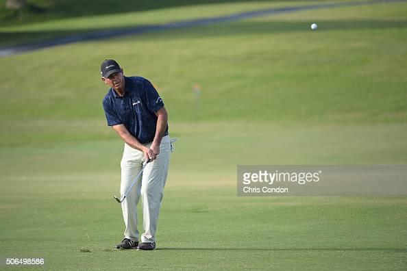 KA'UPULEHUKONA HI JANUARY 23 Tom Lehman hits his third shot to the 14th green during the final round of the PGA TOUR Champions Mitsubishi Electric...