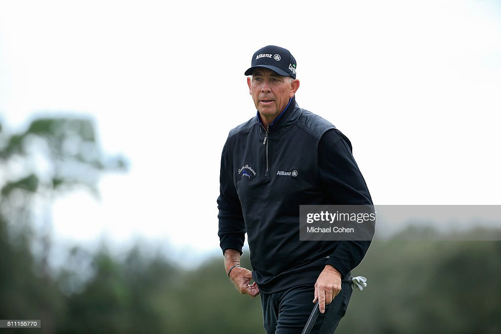 Tom Lehman looks on during the final round of the Allianz Championship held at The Old Course at Broken Sound on February 7 2016 in Boca Raton Florida