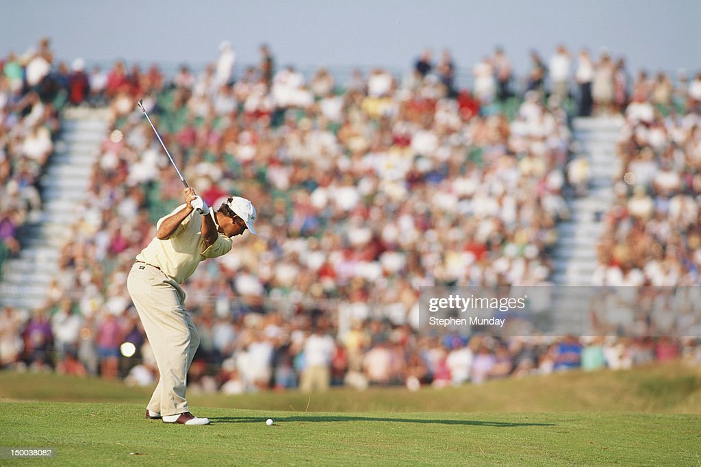 Tom Lehman of the United States during his round of 64 at the 125th Open Championship on 20tht July 1996 at the Royal Lytham and St Annes Golf Club...