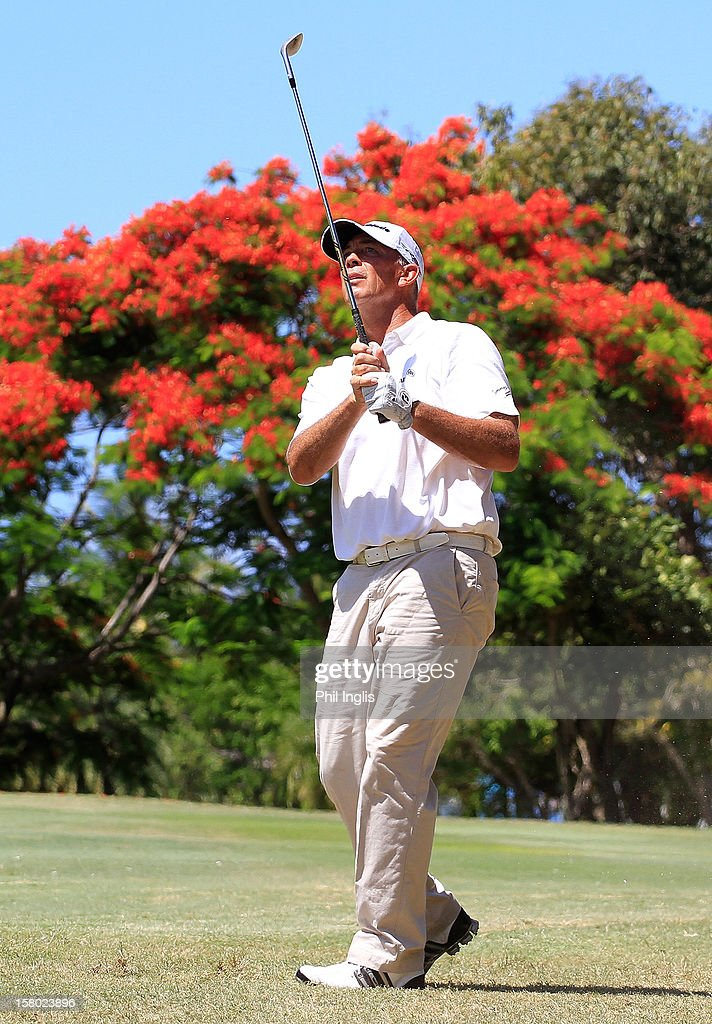 <a gi-track='captionPersonalityLinkClicked' href=/galleries/search?phrase=Tom+Lehman&family=editorial&specificpeople=184539 ng-click='$event.stopPropagation()'>Tom Lehman</a> of the United States in action during the final round of the MCB Tour Championship played at the Legends Course, Constance Belle Mare Plage on December 9, 2012 in Poste de Flacq, Mauritius.