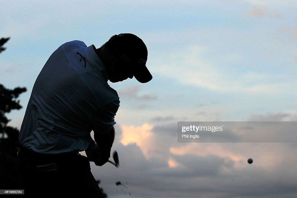 Tom Lehman of United States in action during the third round of The Senior Open Championship played at the Old Course Sunningdale Golf Club on July...