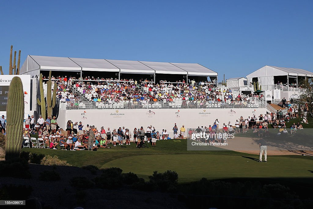 <a gi-track='captionPersonalityLinkClicked' href=/galleries/search?phrase=Tom+Lehman&family=editorial&specificpeople=184539 ng-click='$event.stopPropagation()'>Tom Lehman</a> putts on the 18th hole green during the third round of the Charles Schwab Cup Championship on the Cochise Course at The Desert Mountain Club on November 3, 2012 in Scottsdale, Arizona.