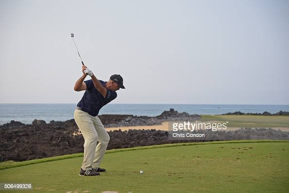 KA'UPULEHUKONA HI JANUARY 23 Tom Lehman tees off on the 17th hole during the final round of the PGA TOUR Champions Mitsubishi Electric Championship...